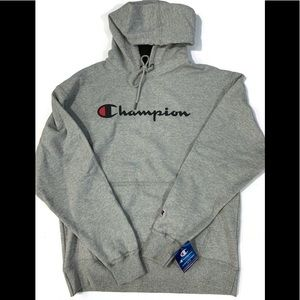 Men's Champion Pullover Hoodie Oxford Gray